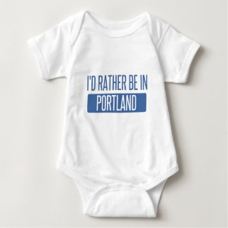 I'd rather be in Portland OR Baby Bodysuit