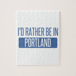 I'd rather be in Portland OR Jigsaw Puzzle