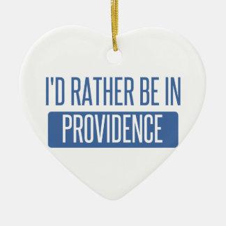 I'd rather be in Providence Ceramic Ornament