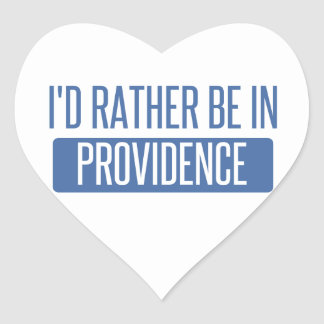 I'd rather be in Providence Heart Sticker