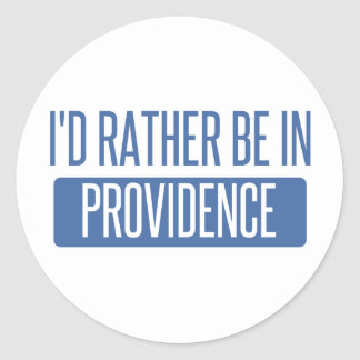 I'd rather be in Providence Round Sticker