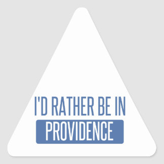 I'd rather be in Providence Triangle Sticker