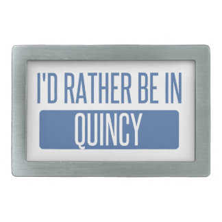 I'd rather be in Quincy MA Belt Buckles