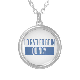 I'd rather be in Quincy MA Silver Plated Necklace
