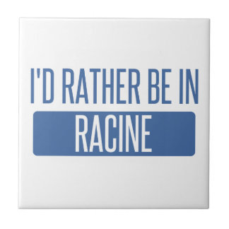I'd rather be in Racine Small Square Tile