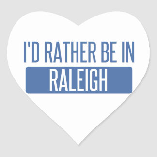 I'd rather be in Raleigh Heart Sticker