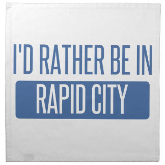 I'd rather be in Rapid City Napkin