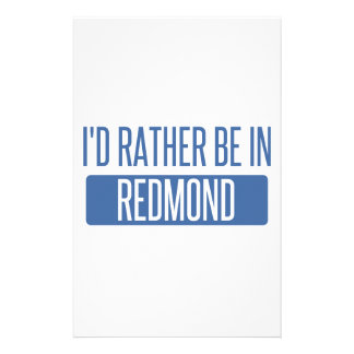 I'd rather be in Redmond Stationery