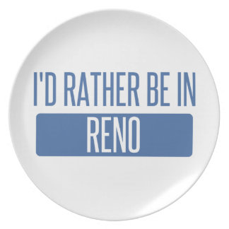 I'd rather be in Reno Plate