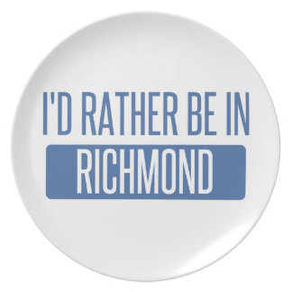 I'd rather be in Richmond IN Plate