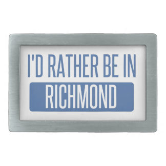 I'd rather be in Richmond IN Rectangular Belt Buckle