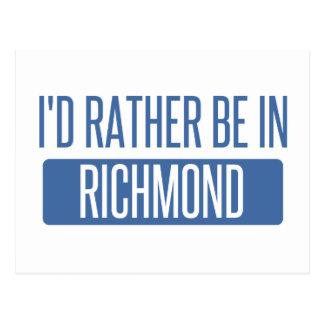 I'd rather be in Richmond VA Postcard