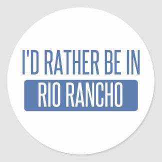 I'd rather be in Riverside Classic Round Sticker