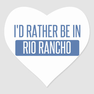 I'd rather be in Riverside Heart Sticker