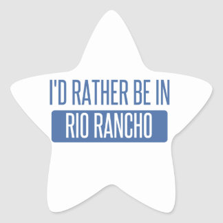 I'd rather be in Riverside Star Sticker