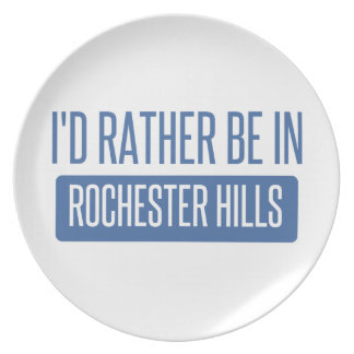 I'd rather be in Rochester MN Plate