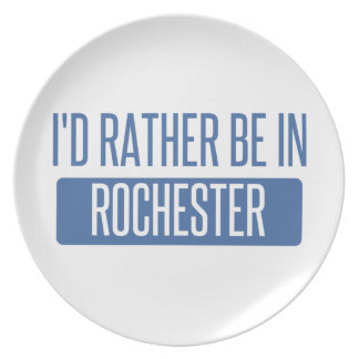 I'd rather be in Rochester NY Plate
