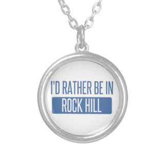 I'd rather be in Rock Island Silver Plated Necklace