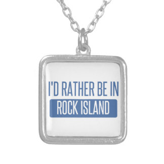 I'd rather be in Rockford Silver Plated Necklace