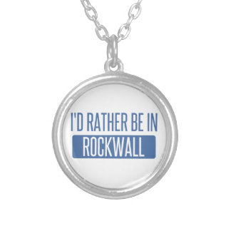 I'd rather be in Rockwall Silver Plated Necklace