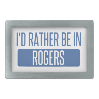 I'd rather be in Rogers Rectangular Belt Buckle