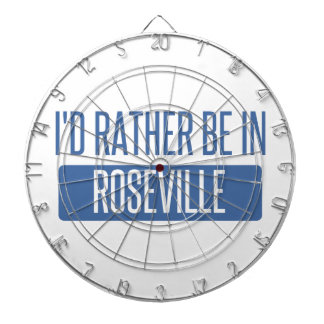 I'd rather be in Roseville CA Dartboard