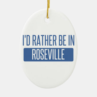 I'd rather be in Roseville MI Ceramic Oval Decoration