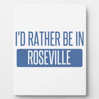 I'd rather be in Roseville MI Plaque