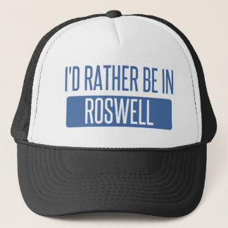 I'd rather be in Roswell GA Trucker Hat