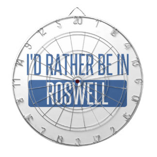 I'd rather be in Roswell NM Dartboard