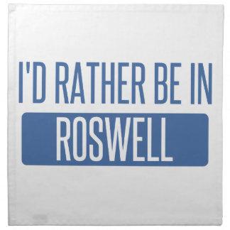 I'd rather be in Roswell NM Napkin