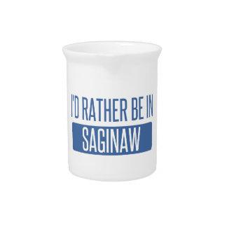 I'd rather be in Saginaw Beverage Pitcher