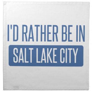 I'd rather be in Salt Lake City Napkin