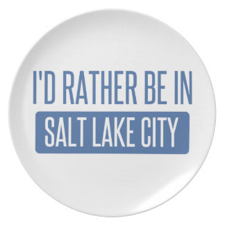 I'd rather be in Salt Lake City Plate