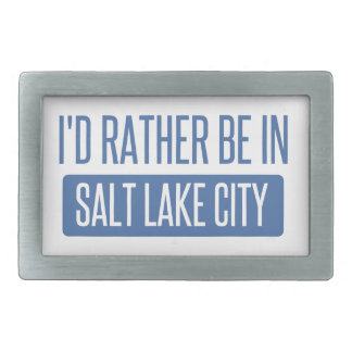 I'd rather be in Salt Lake City Rectangular Belt Buckle