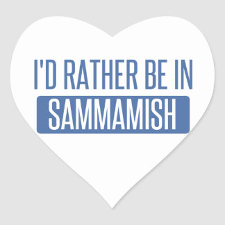 I'd rather be in Sammamish Heart Sticker
