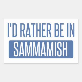 I'd rather be in Sammamish Rectangular Sticker