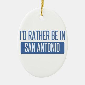 I'd rather be in San Antonio Ceramic Oval Decoration