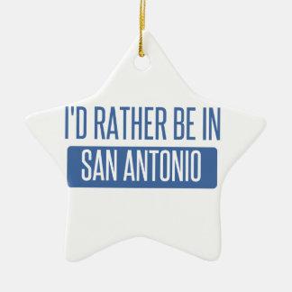 I'd rather be in San Antonio Ceramic Star Decoration