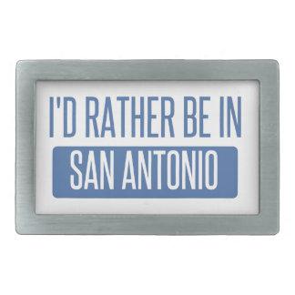 I'd rather be in San Antonio Rectangular Belt Buckle