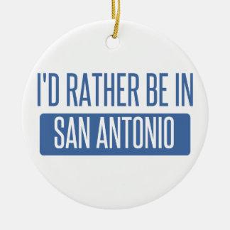 I'd rather be in San Antonio Round Ceramic Decoration