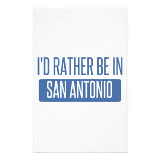 I'd rather be in San Antonio Stationery