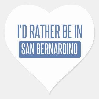 I'd rather be in San Bernardino Heart Sticker