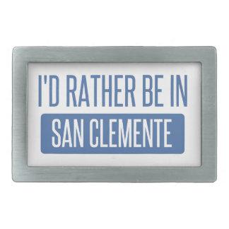 I'd rather be in San Clemente Rectangular Belt Buckle