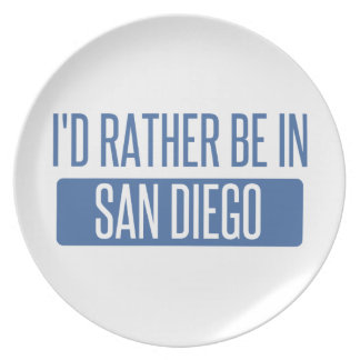 I'd rather be in San Diego Plate