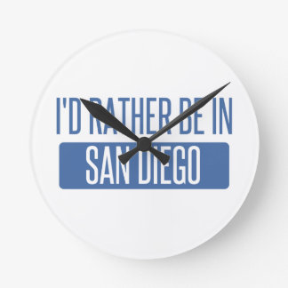I'd rather be in San Diego Round Clock