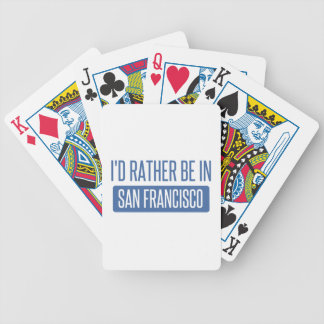 I'd rather be in San Francisco Bicycle Playing Cards