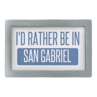 I'd rather be in San Gabriel Belt Buckles