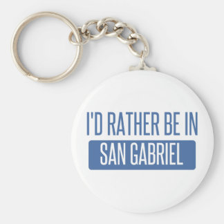 I'd rather be in San Gabriel Key Ring