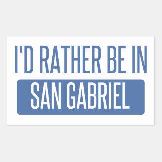 I'd rather be in San Gabriel Rectangular Sticker